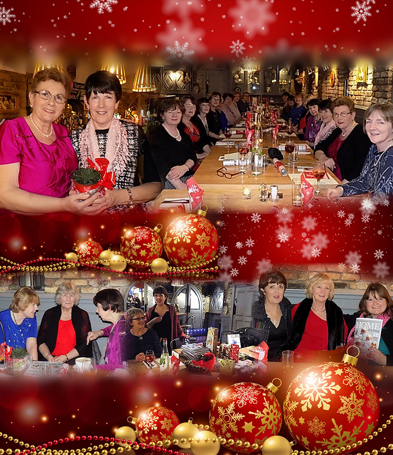 Collage of images from the Christmas Dinner