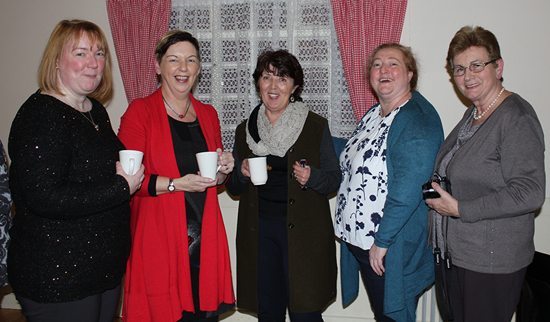 Members enjoy a cuppa with Ashleigh Tobin