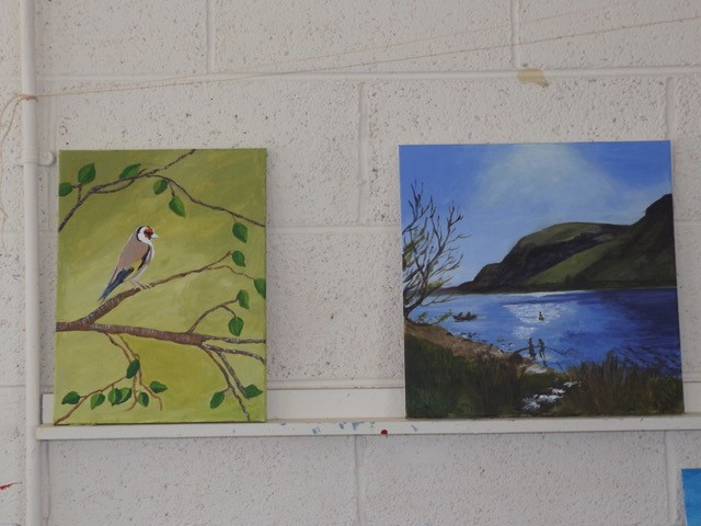 Oil Paintings by ICA WIcklow Town Guild members at Wicklow Weekend at An Grianán