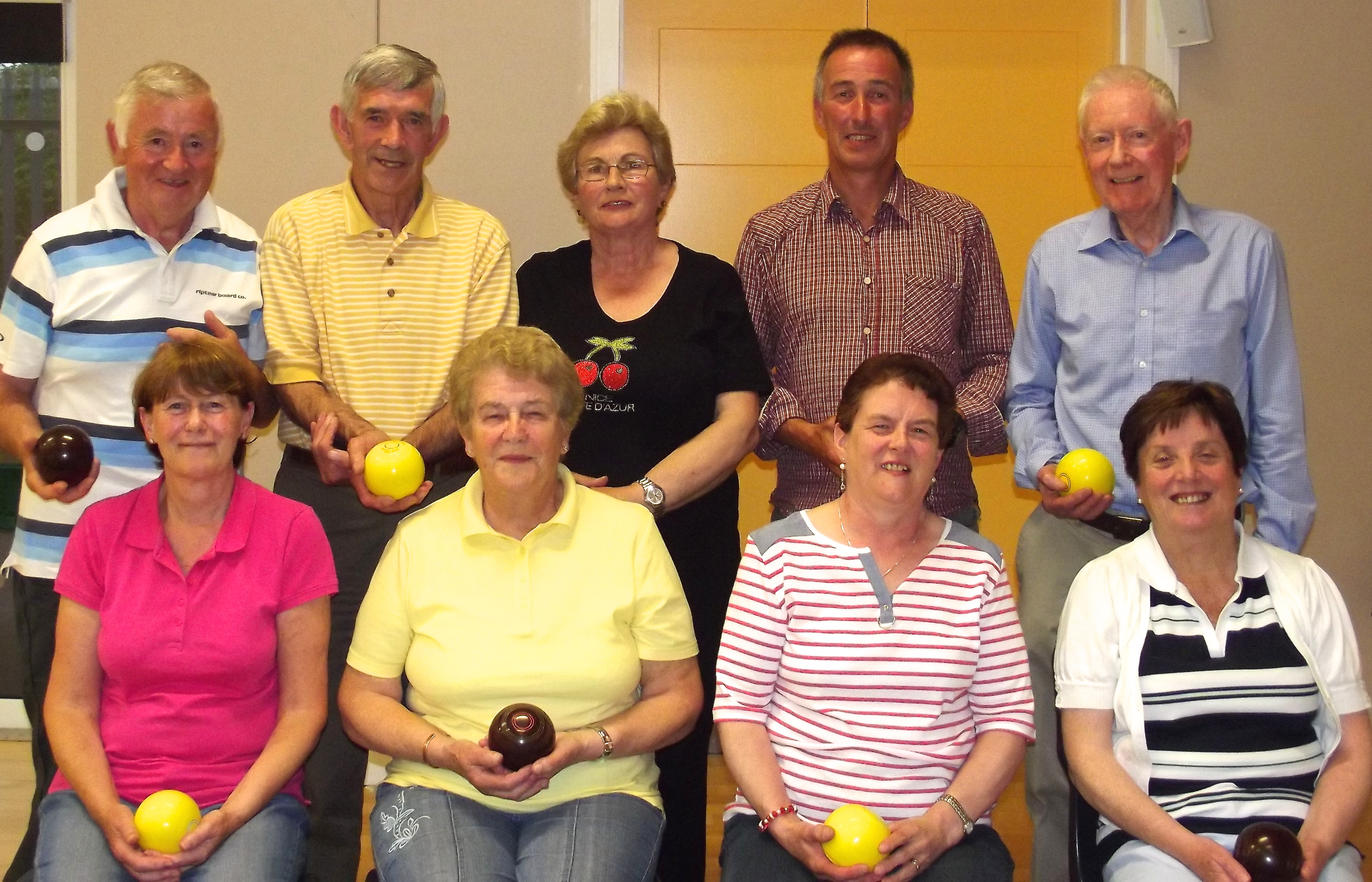 Bowlers, including ICA members, at St. Brigid's Rathnew