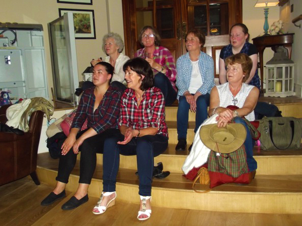 Line Dancers from Wicklow Town sitting on steps