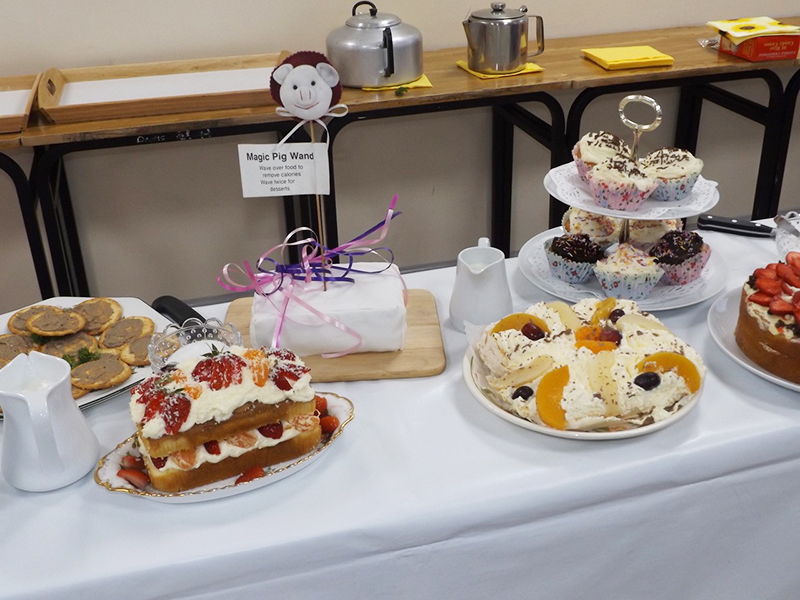 A selection of cakes at the June 2018 meeting ICA Wicklow Town