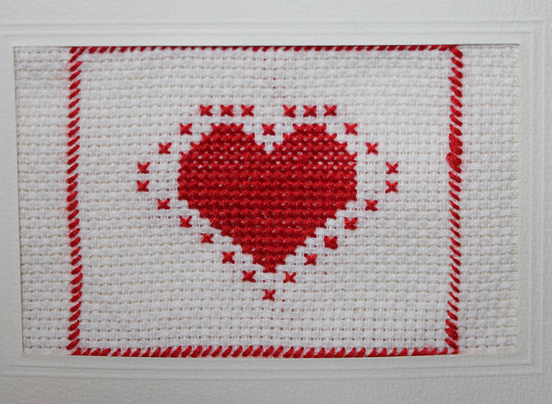 Cross stitch card by Sylvia Tracey