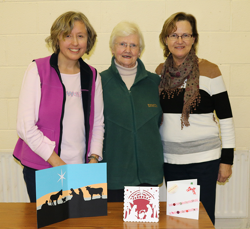 Winners of handmade cards competition at ICA Wicklow Town